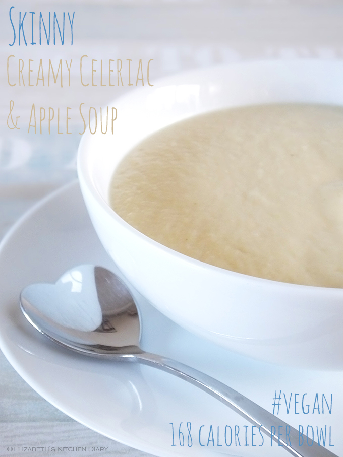 Skinny Creamy Celeriac & Apple Soup
