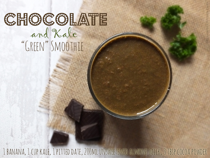 Chocolate and Kale Green Smoothie