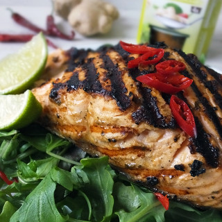 Grilled Shetland Salmon with Ginger & Lemongrass