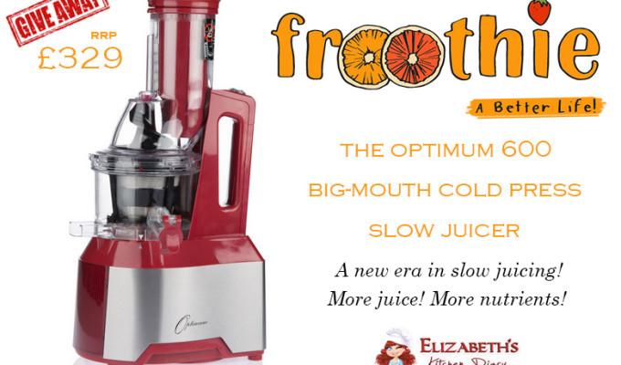 Celebrating National Vegetarian Week with Froothie! {Optimum 600 Slow Juicer Giveaway}