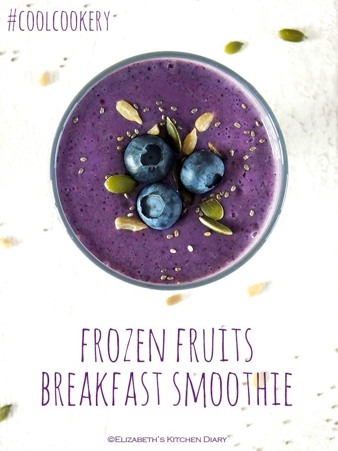 Frozen Fruits Breakfast Smoothie