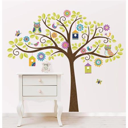 Hoot and Hangout Wall Art Sticker Kit
