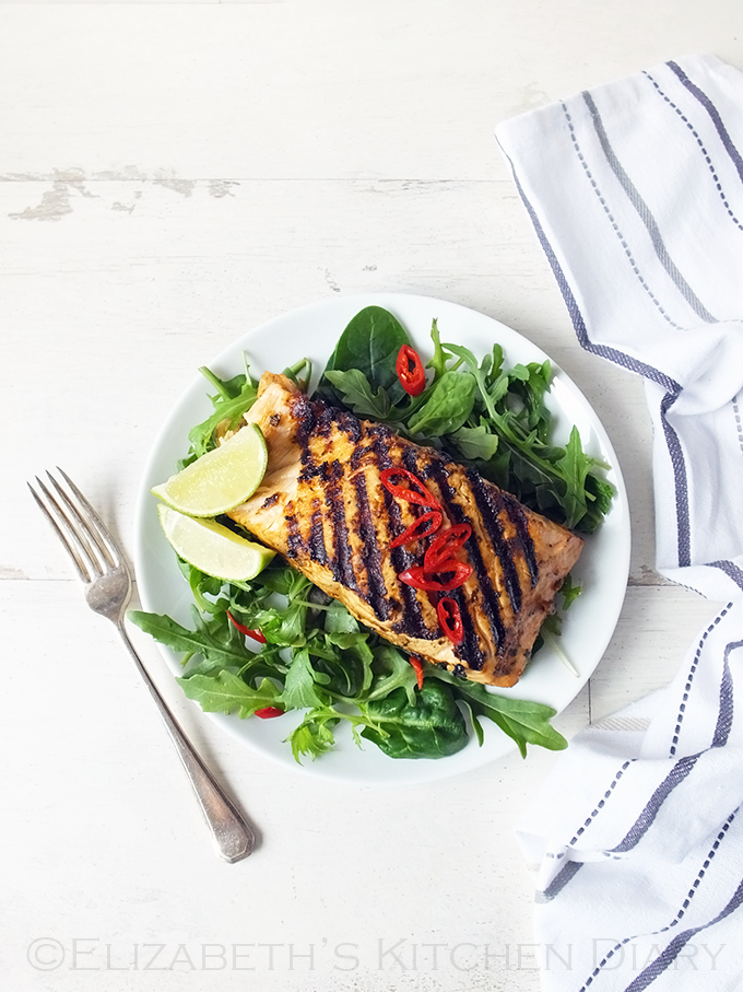 Grilled Shetland Salmon with Ginger and Lemongrass