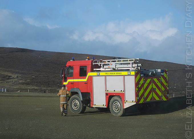 Fair Isle fire truck