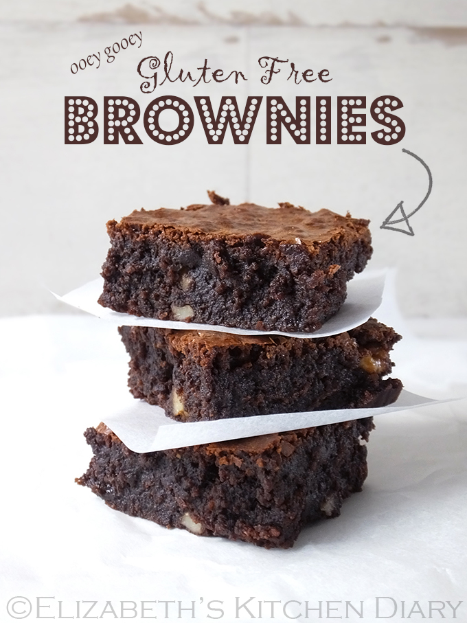 Ooey Gooey Gluten Free Brownies