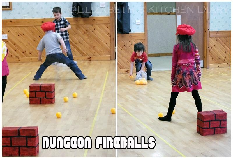 Mario Dungeon Fireballs