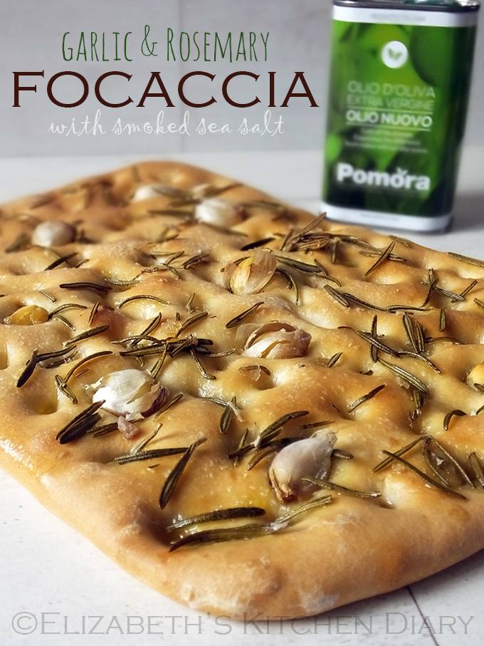 Garlic & Rosemary Focaccia with Smoked Sea Salt