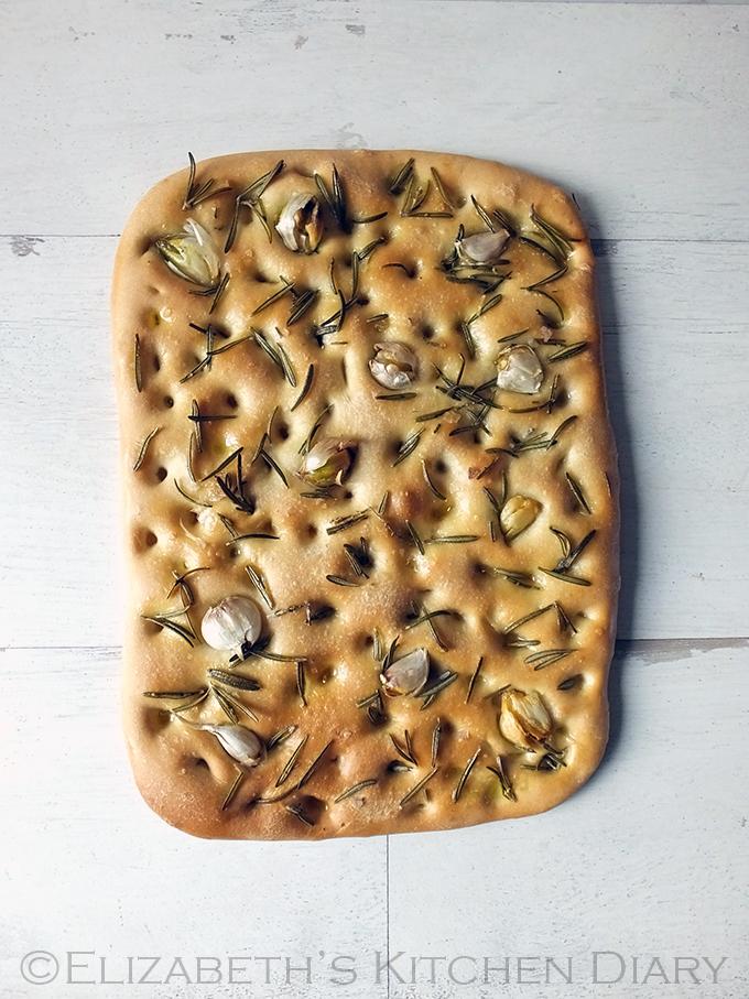 Garlic & Rosemary Focaccia with Smoked Sea Salt