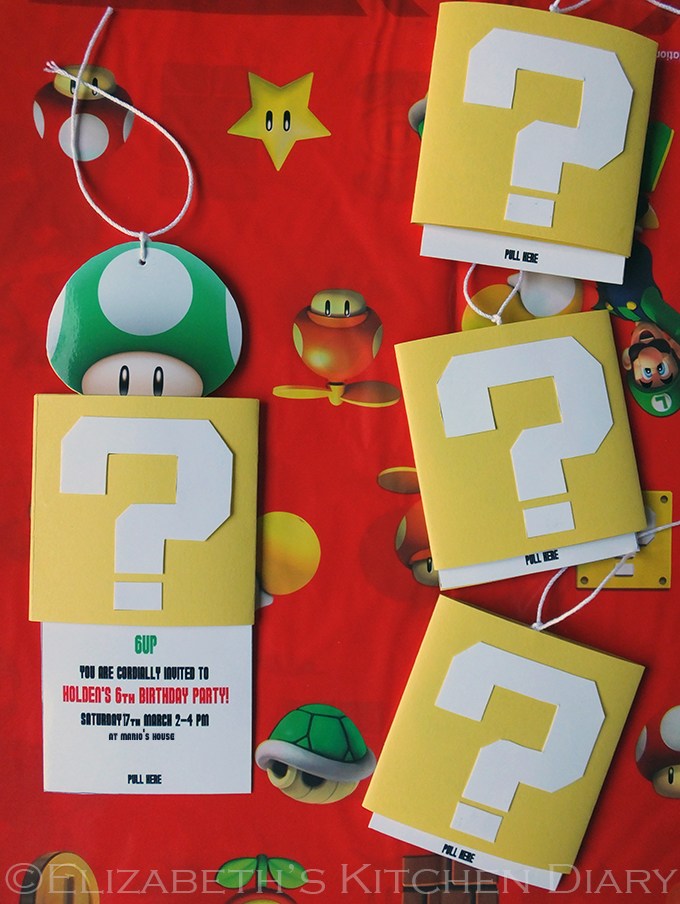 Super Mario Birthday Party Invitation Tutorial
