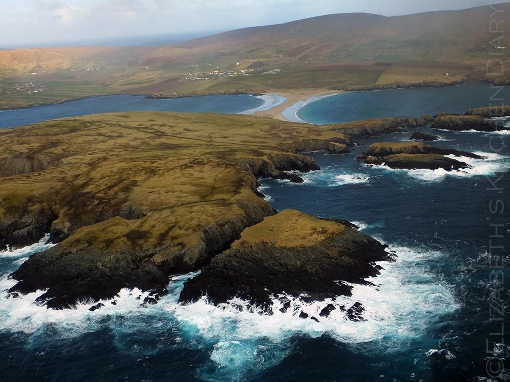 St Ninians aerial view, Shetland