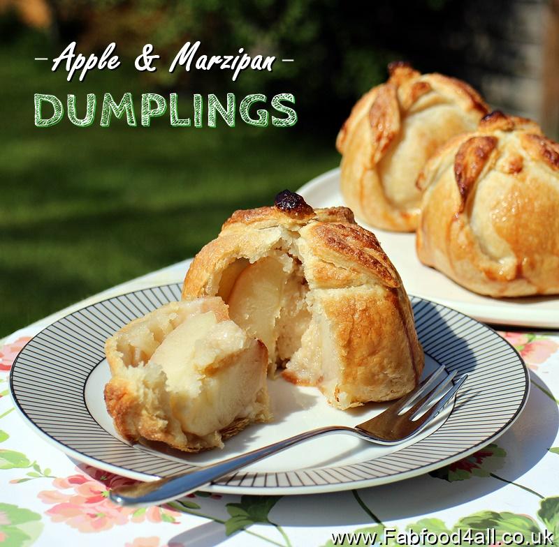 Apple Marzipan Dumplings