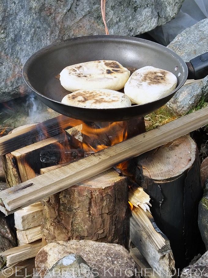 Shetland Bannocks over a Nordic Fire Log