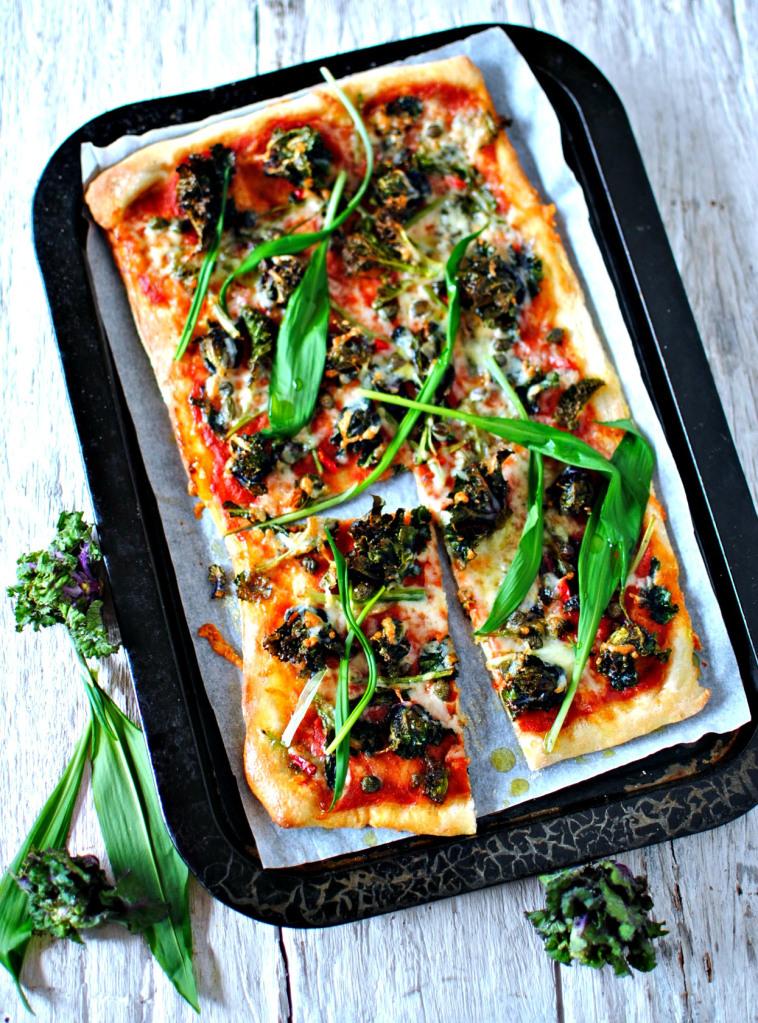 wild garlic pizza