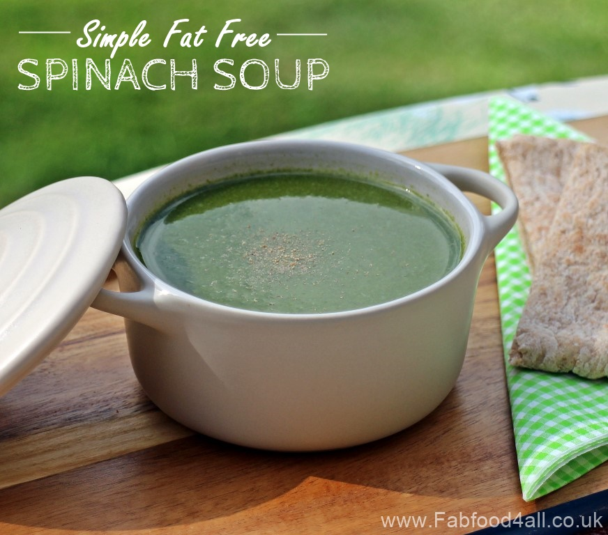 Simple Fat Free Spinach Soup