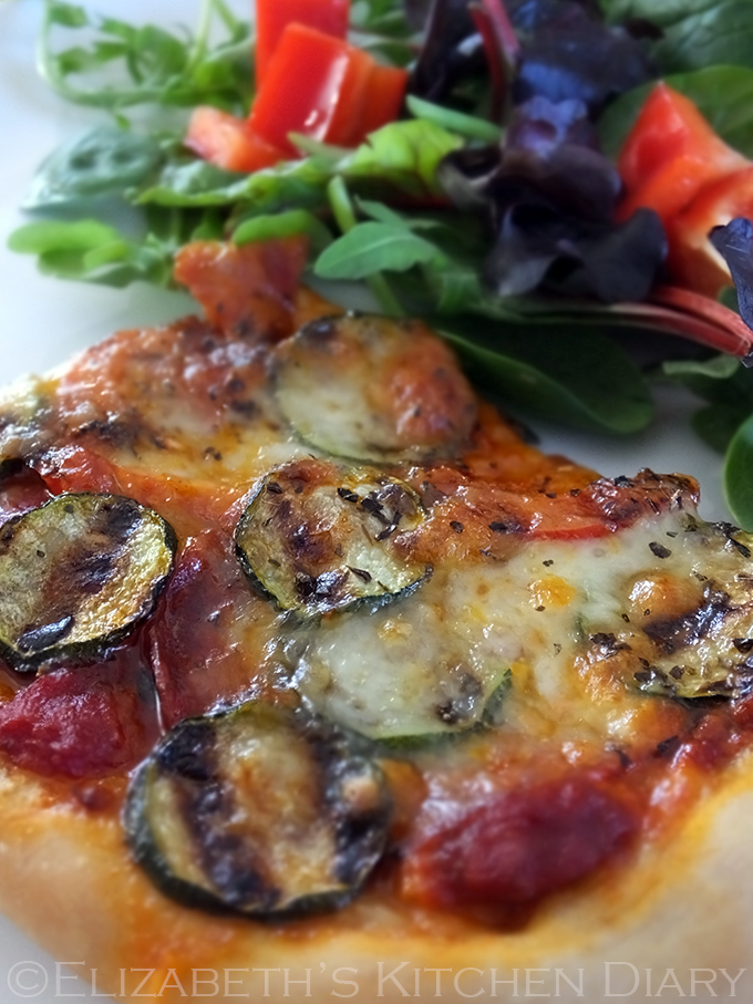 Chorizo Grilled Veg Pizza