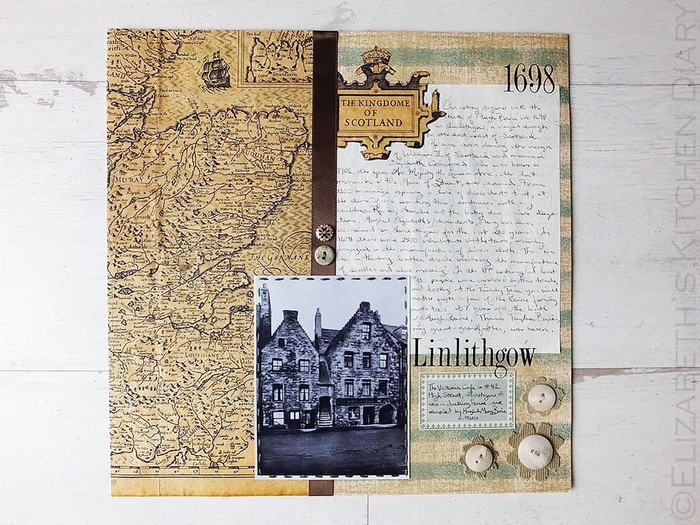 Linlithgow Scrapbook Page