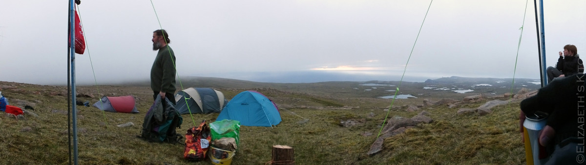 Mid Field Camp Panorama