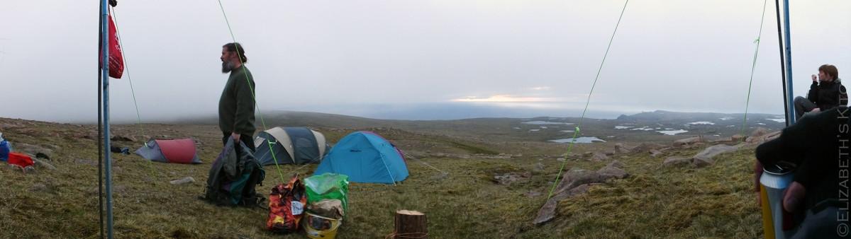 Mid Field Camp Panorama