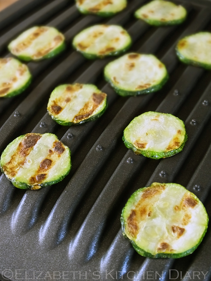 Grilled Courgettes