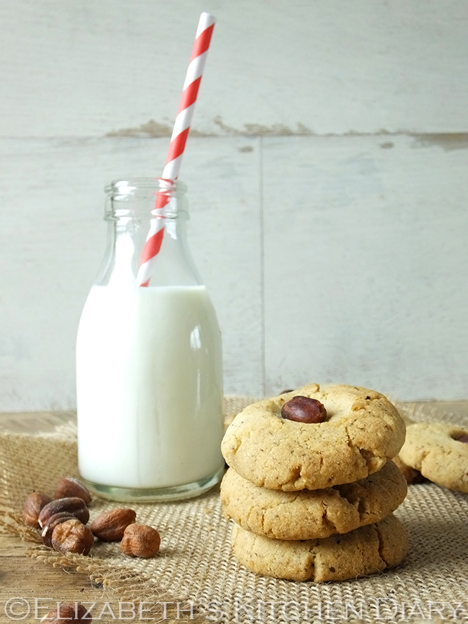 Hazelnut Cookies from Elizabeth's Kitchen Diary