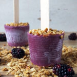 Blackberry Frozen Yogurt & Granola Breakfast Pops