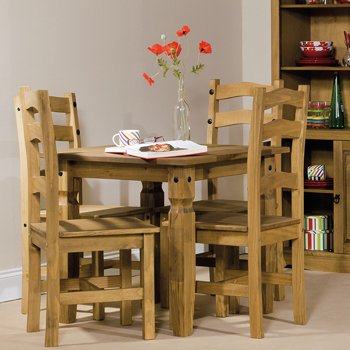 Corona Solid Pine Dining Room Chairs from Wayfair