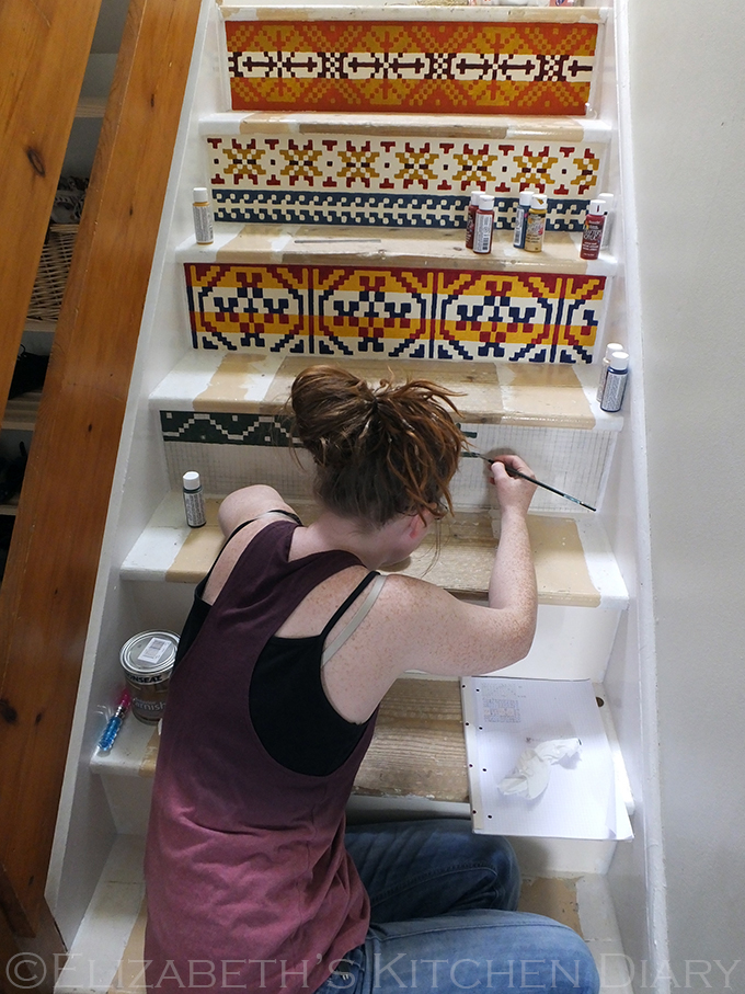 Fair Isle Stairs - work in progress