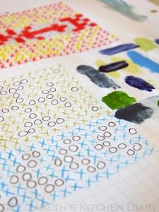 Fair Isle pattern samples