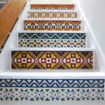 DIY Hand Painted Fair Isle Stair Renovation