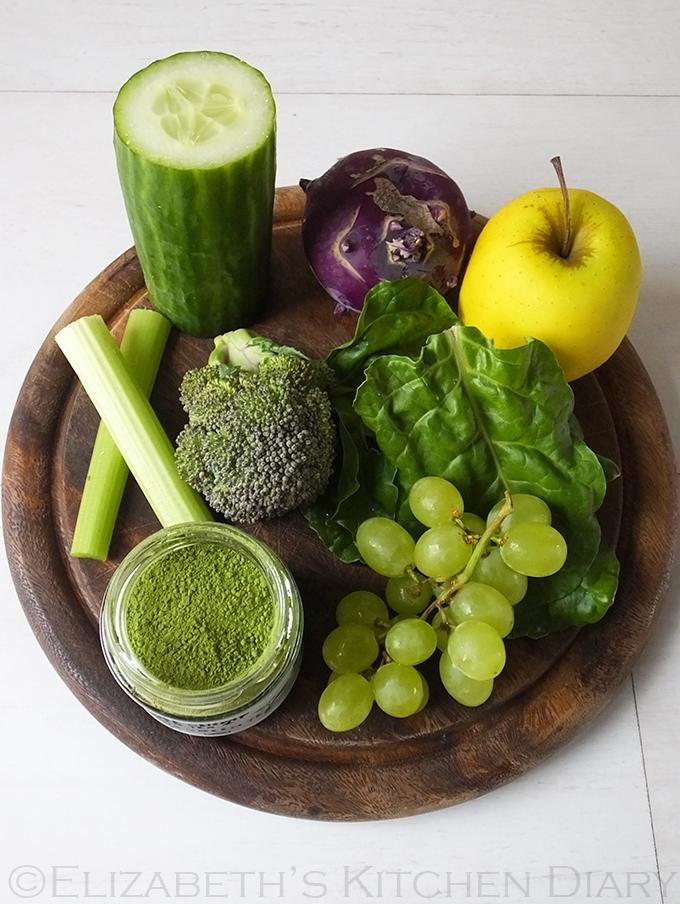 Fresh vegetables for juicing