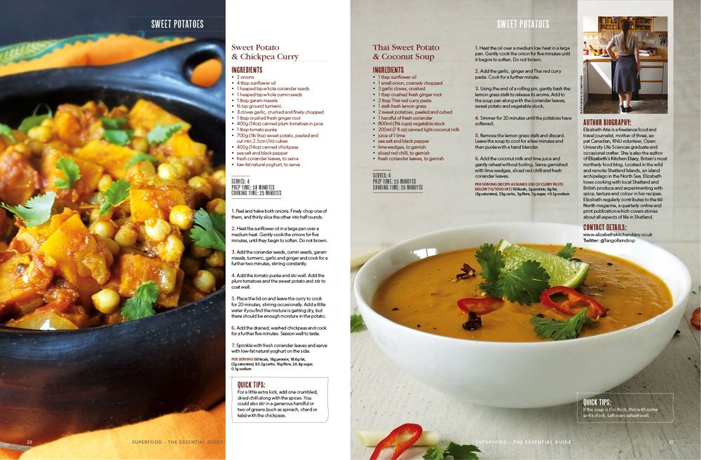 Sweet Potato Recipes in the Superfood Magazine