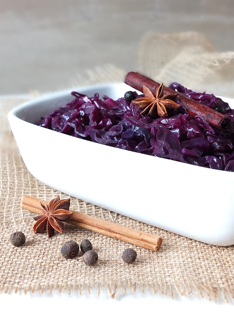 Braised Red Cabbage with Star Anise