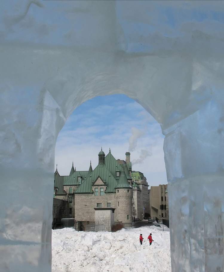 Quebec Winter Carnival Ice Castle by Jeannette Lambert