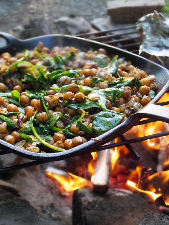 Middle Eastern Spiced Campfire Chickpeas