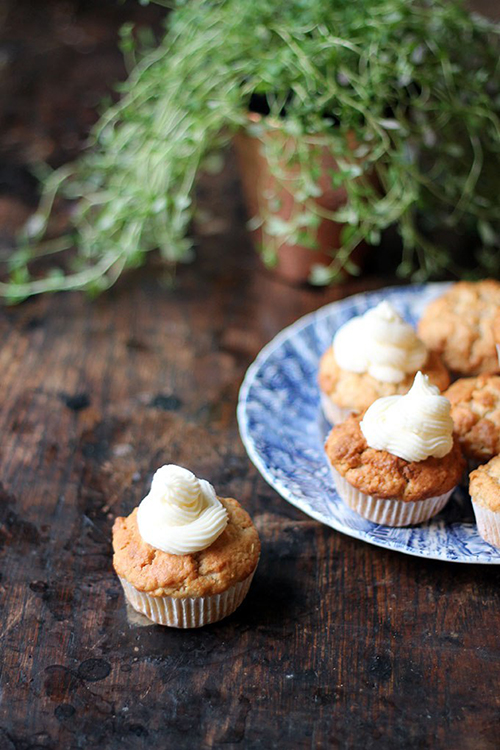Apple Parsnip Cupcakes with Boozy Apple Cider Icing by Veggie Desserts