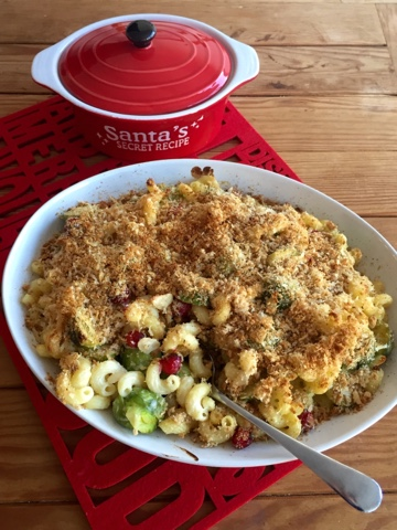 Brussels Sprout and Cranberry Pasta Bake by Foodie Quine