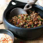 Middle Eastern Spiced Roast Lamb with Freekeh and Baharat Spiked Yogurt