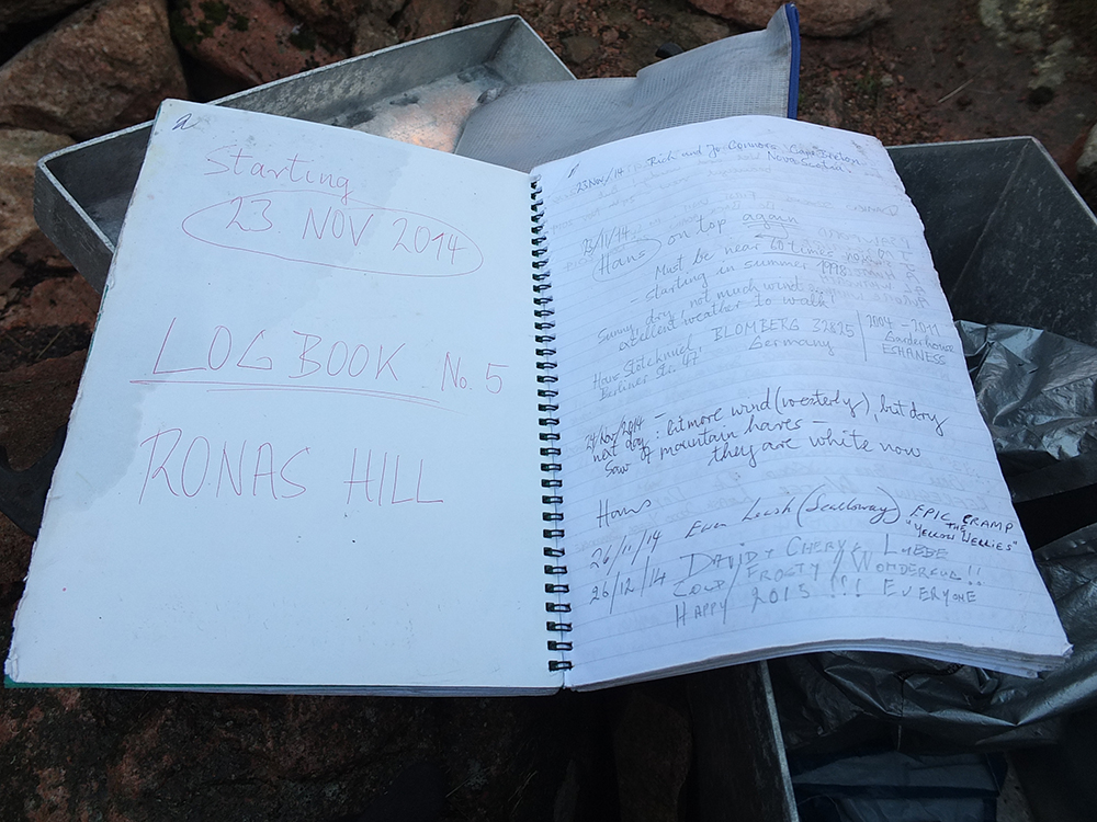 Ronas Hill Log Book