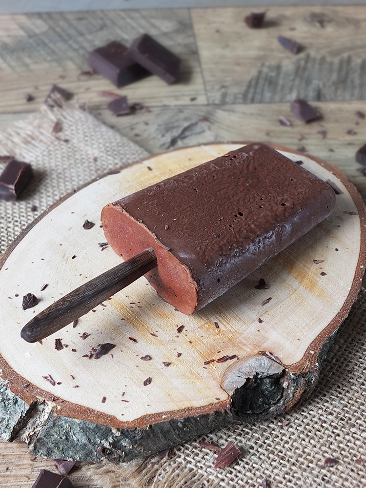 3 Ingredient 100 Calorie Chocolate Fudgsicle