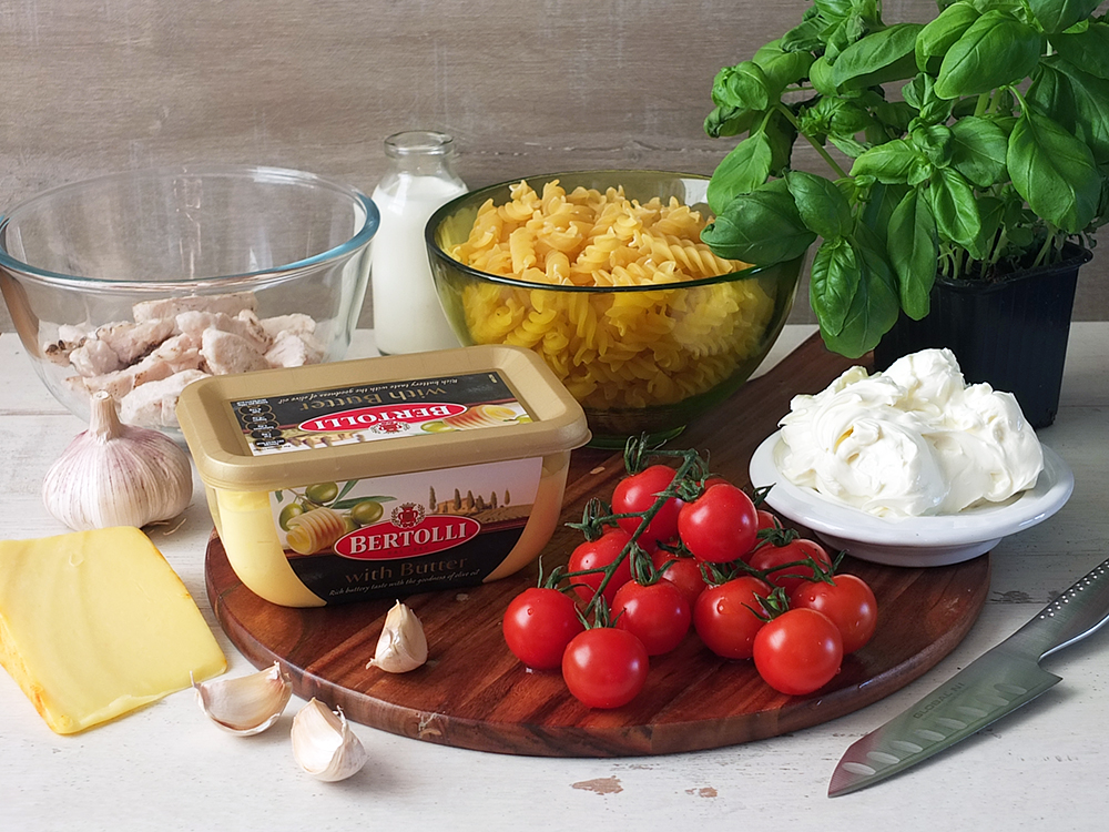 Bertolli with Butter - Ingredients for simple pasta dish