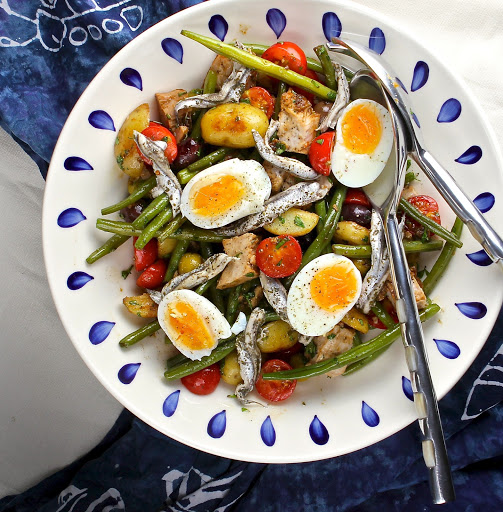 Tuna Nicoise Salad - A Perfect Salad for the New Year by The Gluten Free Alchemist
