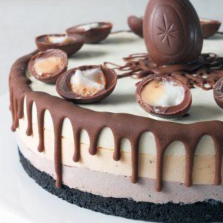 Cadbury Creme Egg No Churn Ice Cream Layer Cake