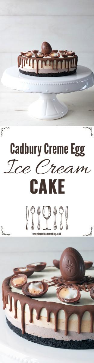 Cadbury Creme Egg Ice Cream Cake