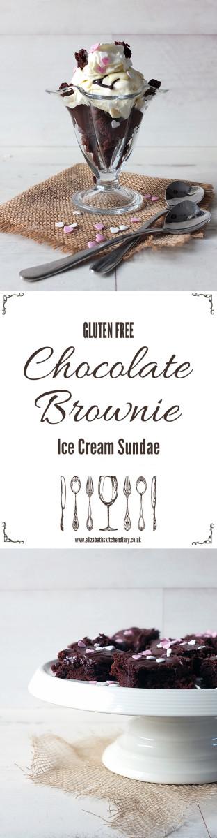 Gluten Free Chocolate Brownie Ice Cream Sundae