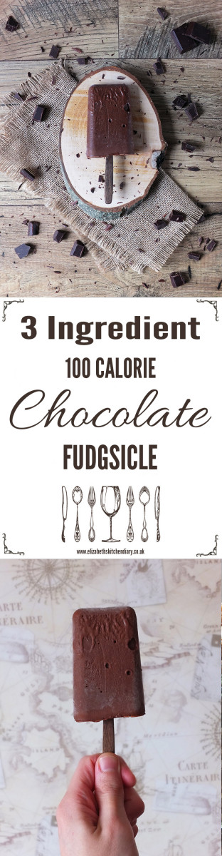 Three Ingredient, 100 Calorie Chocolate Fudgsicle