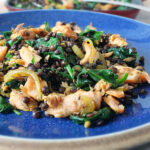 Hot Smoked Shetland Salmon with Puy Lentils & Spinach