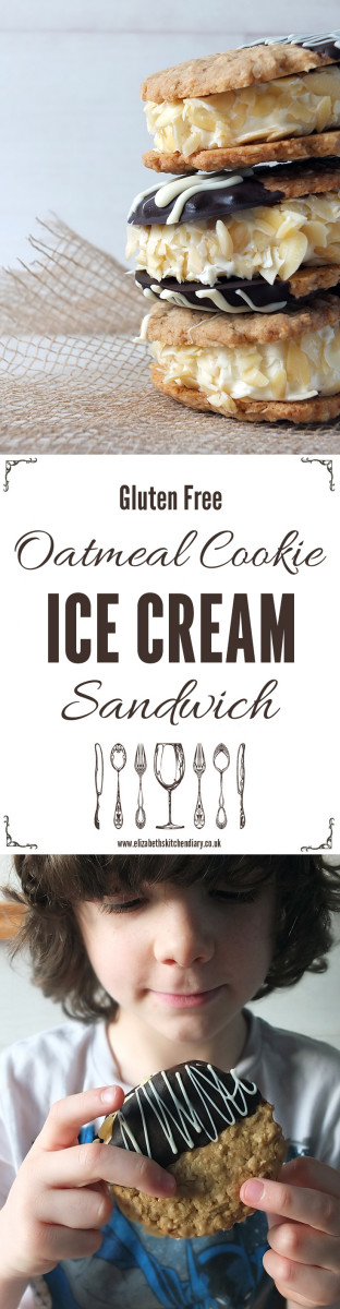 Oatmeal Cookie Ice Cream Sandwich Pin