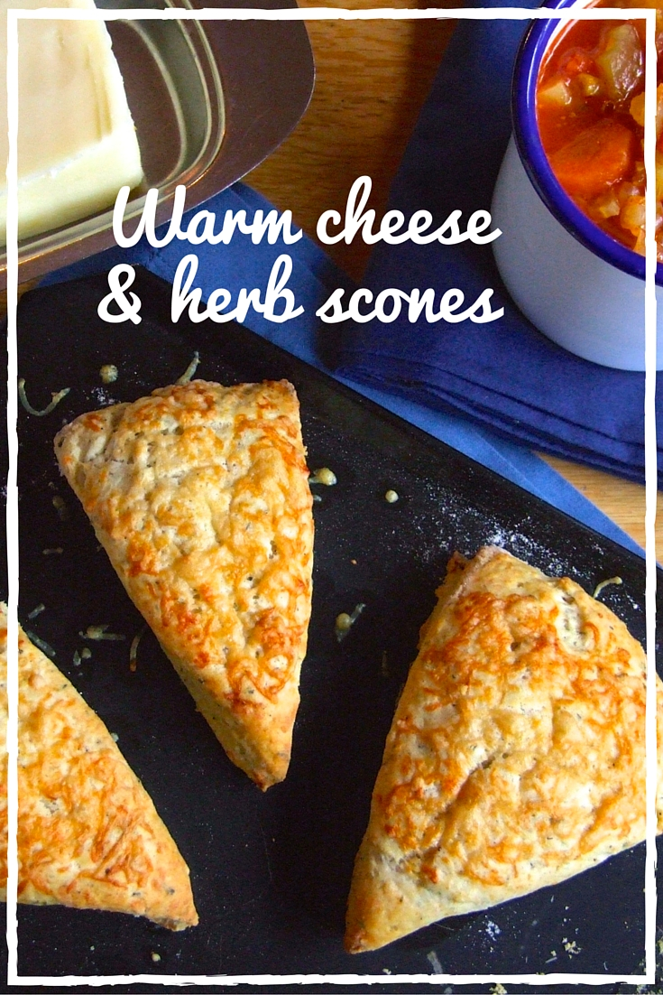 Warm Cheese & Herb Scones by Family, Friends, Food