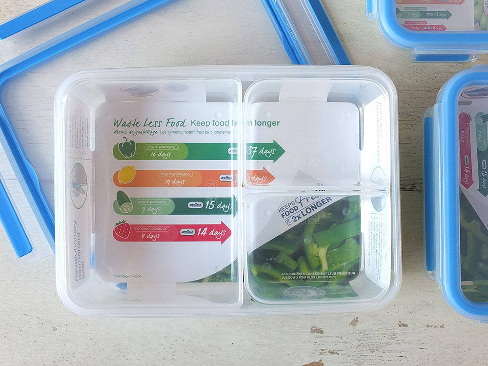 Zyliss Fresh Plastic 1.2 Litre Storage with 3 Inserts