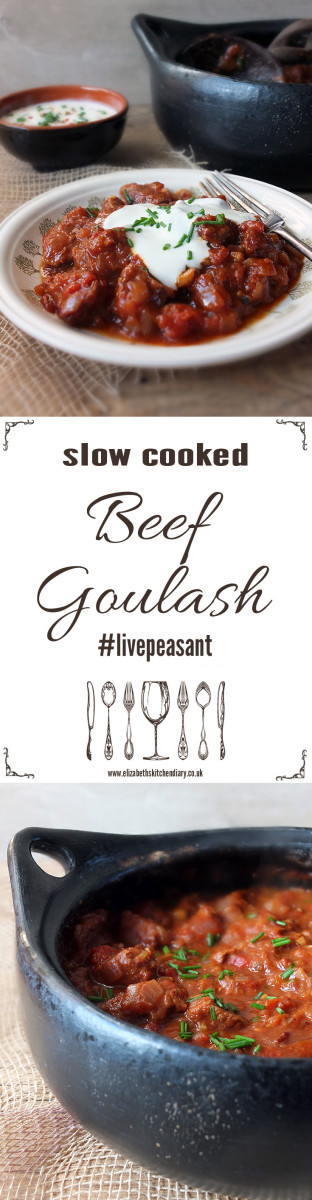 Slow Cooked Beef Goulash - only 15 minutes to prepare! This caraway and paprika flavoured dish can be made with the cheapest cuts of beef. #sp
